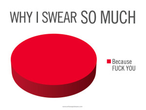Why-I-Swear-So-Much-Pie-Chart-Poster